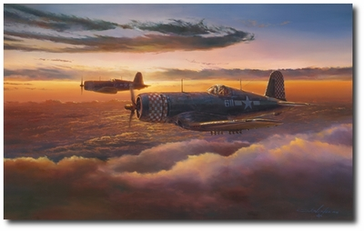 Heading Home Reflections by Rick Herter (F4U Corsair)