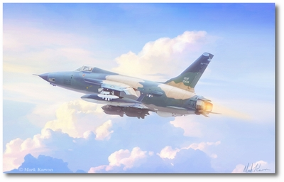 Heading North by Mark Karvon (F-105 Thunderchief)