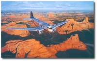 Heading West by Roy Grinnell (DC-3)