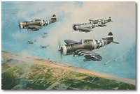 Hell Hawks Over Utah by Robert Taylor (P-47 Thunderbolt)