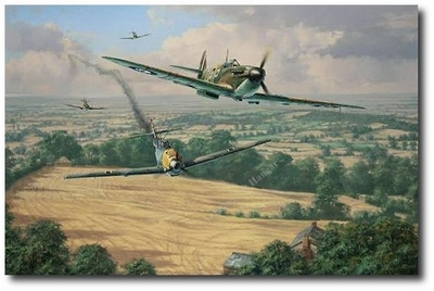 High Summer by Anthony Saunders (Spitfire & Me109)