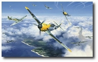 High Summer High Battle by Nicolas Trudgian (Bf109)