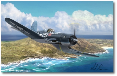 Hog Driver by Mark Karvon (F4U Corsair)