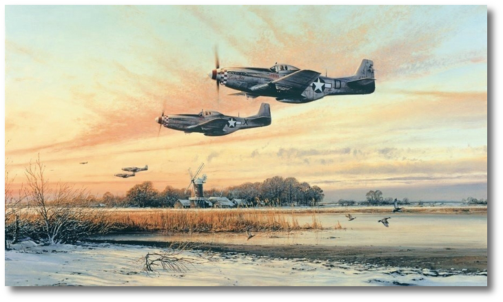 P 51 mustang home at dusk by robert taylor p 51 malvernweather Gallery