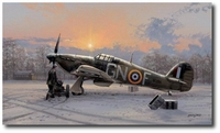 Home is the Hunter by Philip West (Hawker Hurricane)