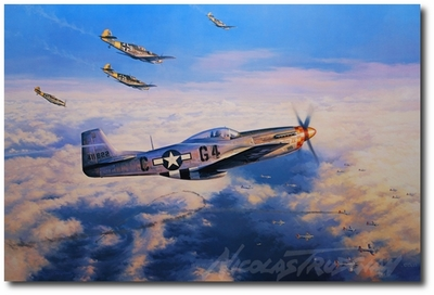 Hot Pursuit by Nicolas Trudgian (P-51 Mustang)