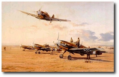 Hunters in the Desert by Robert Taylor (Me 109)