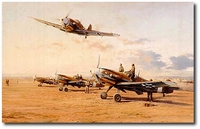 Hunters in the Desert by Robert Taylor (Me109)
