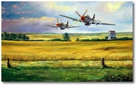 Hurryin' Home Horses by Rick Herter (P-51 Mustang)