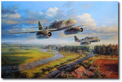In Defense of the Reich by Nicolas Trudgian (Me262)