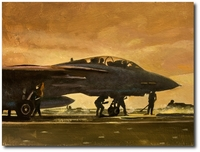 Indian Ocean Sunrise by Bryan David Snuffer (F-14 Tomcat)