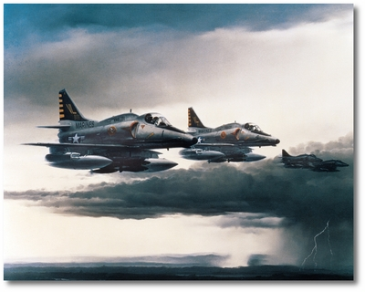 Into the Danger Zone by R.G. Smith (A-4M Skyhawk)