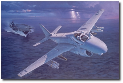 Into the Storm by Roy Grinnell (A-6 Intruder)