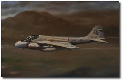 Intruder Low Level by Robert D. Fiacco (A-6E)