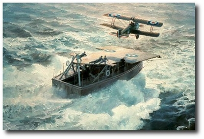 Just Airborne, At Sea by Keith Ferris (Sopwith 2F.1 Camel)
