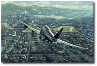 Kai Tak Final Approach by Ronald Wong (Boeing 747)