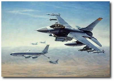 Killer Scouts by Ronald Wong (F-16 & KC-135)