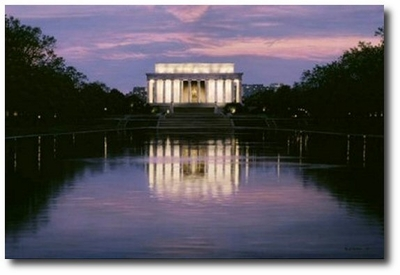Land of the Free by Rod Chase (Lincoln Memorial)