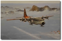LC-130R Overhead Byrd Station, Antarctica by Robert D. Fiacco