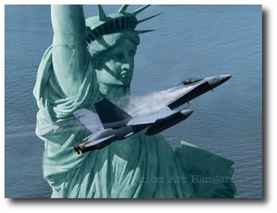 Liberty Rising by Dru Blair (F/A-18 Hornet)