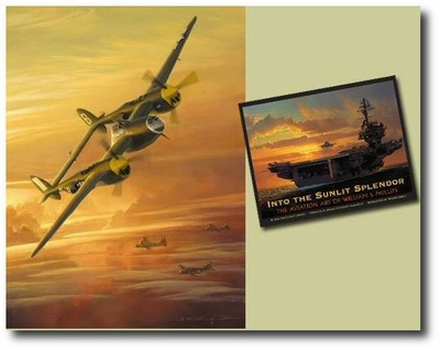 Lightning from the Sun / Into the Sunlit Splendor by William Phillips (P-38)