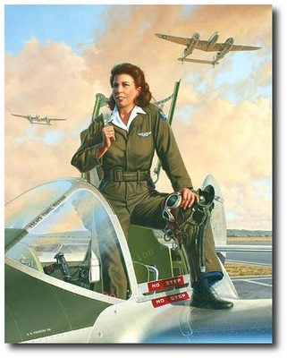 Lightning Lady by Stan Vosburg (P-38 - WASP)