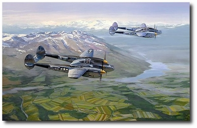 Lightnings in the MTO by Jack Fellows (P-38)