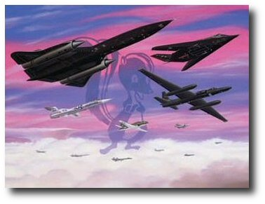 Lockheed Legends  by Mike Machat (SR-71, F-117, U-2, F-104 & P-80)