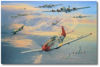 Long Haul to Berlin by Anthony Saunders (P-51 Mustang)