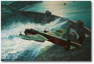 Low Pass Over the Möhne Dam by Anthony Saunders (Lancaster)