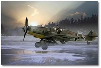 Luftwaffe Me 109 G-6 of JG 27 by Ron Cole