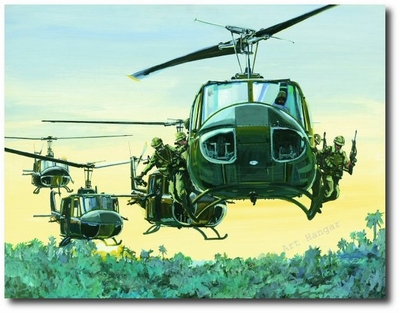 LZ by K. Price Randel (UH-1 Huey)