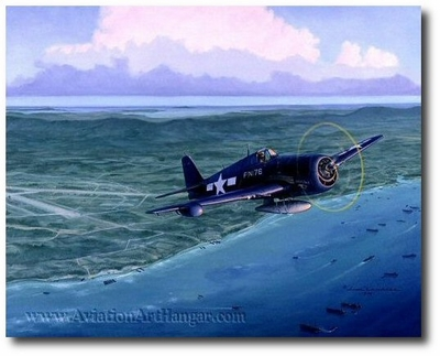 Maj. R. Bruce Porter - Marine Night Fighter Ace by Jim Laurier (F6F Hellcat)
