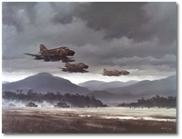 Marine Phantoms Supporting the Troops by R.G. Smith (F-4)