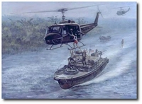 Mekong Mess-about by Ronald Wong (UH-1 Huey)