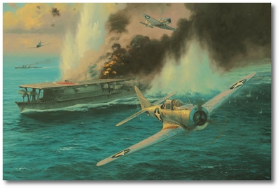 Midway - The Attack on the Soryu by Anthony Saunders (SBD Dauntless)