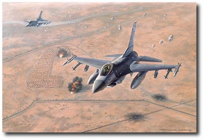 Mission Over Iraq by Ronald Wong (F-16 Falcon)