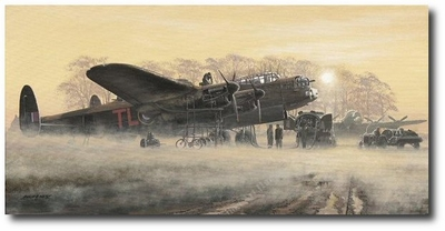 Misty Morning by Philip West (Avro Lancaster)