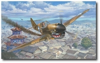 Mooney's Sacrifice by Roy Grinnell (P-40 Warhawk)