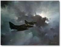Moonlit Marine A-4s by R.G. Smith (A-4M Skyhawk)