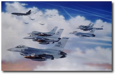 Movers & Shakers by Thierry Thompson (F-16 Fighting Falcon)