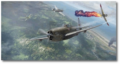 Neel Kearby's Last Mission by Jim Laurier (P-47 Thunderbolt)