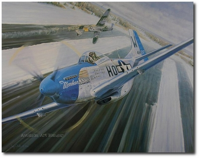 New Year's Bash by Troy White (P-51 Mustang)