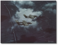 Night Flight - Black Ponies Over Binh Thuy by R.G. Smith (OV-10 Bronco)