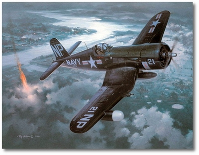 Night Victory by Roy Grinnell (F4U-5N)