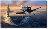 Off to the Chosin by Nicolas Trudgian (F4U Corsair)