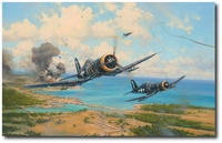 Okinawa - Toward the Bitter End by Robert Taylor (F4U)