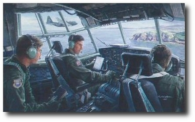 On the Deck Over Scotland by Gil Cohen (C-130)