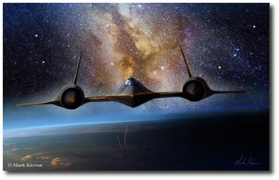On the Edge of Night by Mark Karvon (SR-71 Blackbird)