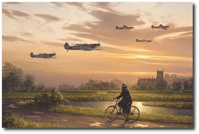 On Wings and a Prayer by William S. Phillips (Spitfire)
